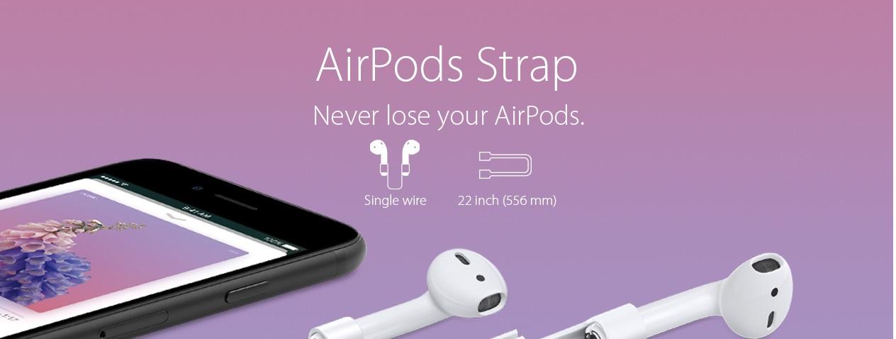 Spigen™ AirPod Strap - резиновый ремешок для наушников Apple AirPods SGP-000EM20861.