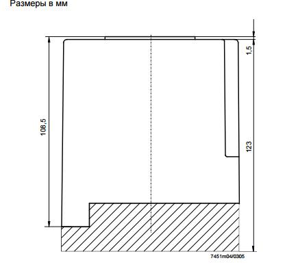 Размеры автомата горения Siemens LFL1.335