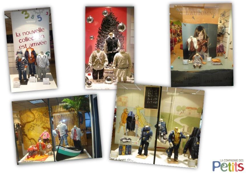 """Примеры магазинов французской марки детской одежды La compagnie des petits - В компании детей"""", Франция"""