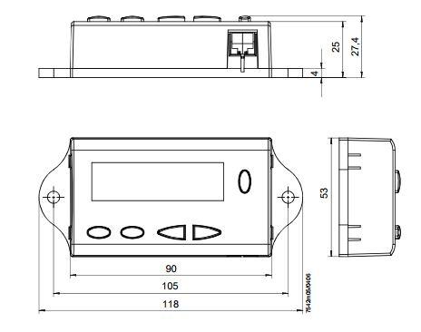 Размеры контроллера Siemens AZL21.00A9