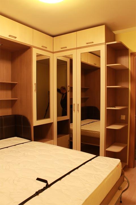 Шкаф-кровать горизонтальная 90 см, эволюция. мебель для комп.