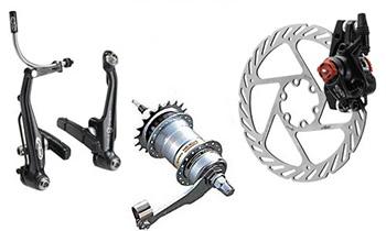 основные типы тормозов для велосипедов