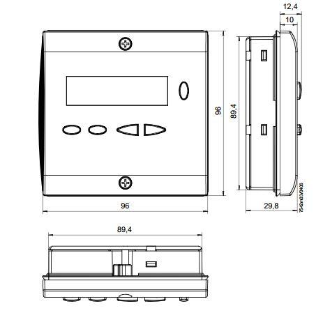 Размеры контроллера Siemens AZL23.00A9