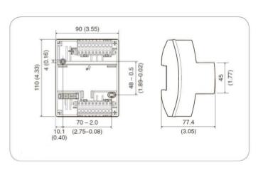Размеры контроллера Tac Xenta 451A
