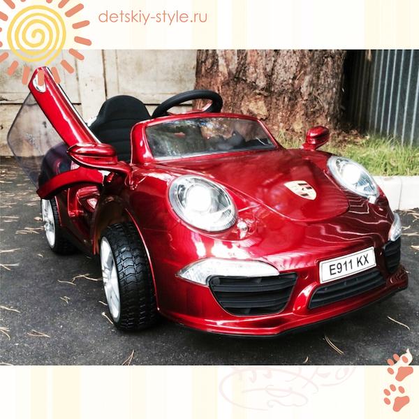 электромобиль porsche е911кх, VIP, купить, отзывы, элитный электромобиль, river toys, бесплатная доставка, доставка по россии, цена, заказать, detskiy-style.ru