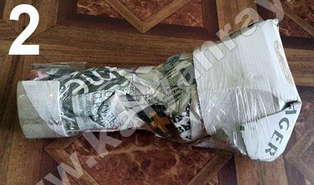 Упаковка колбы Халил Мамун первый этап