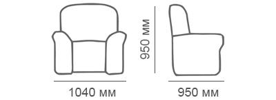 Габаритные размеры кресла Калифорния