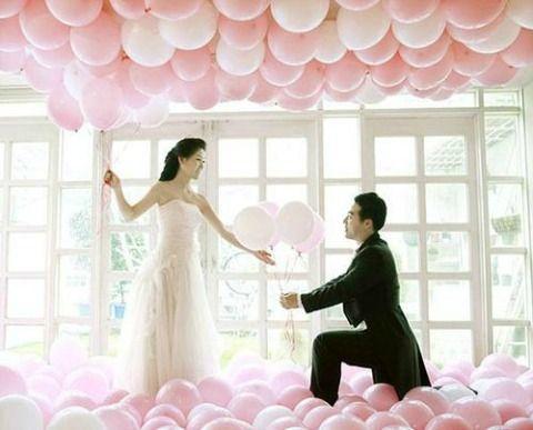 как украсить воздушными шарами свадьбу