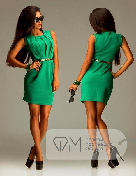 зеленое платье Фабрика моды