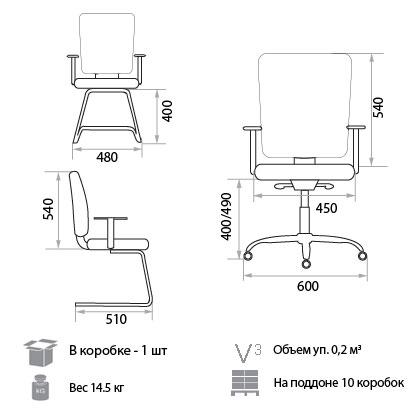Кресло Меридия размеры