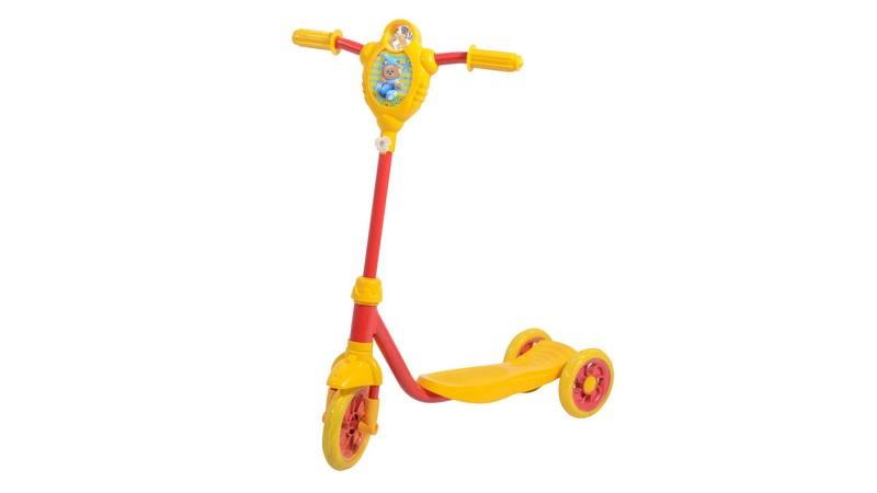 Трёхколёсный самокат с колёсами сзади