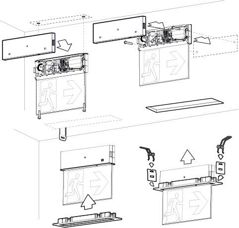 Схема монтажа светового табло ONTEC-G
