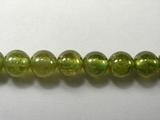 Бусина из граната зеленого, шар гладкий 6 мм