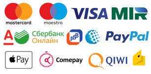 Список способов онлайн-оплаты visa,mastercard,maestro,mir,sberbank-online