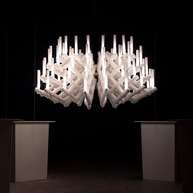 Кристаллизованный светильник от Zorya