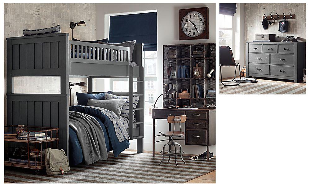 Комната для двух мальчиков в винтажном индустриальном стиле Restoration Hardware