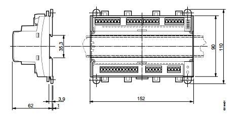 Размеры контроллера Siemens HRC3.2