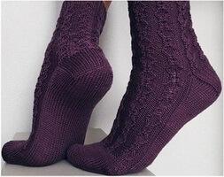 Ажурные носки из тонкой пряжи