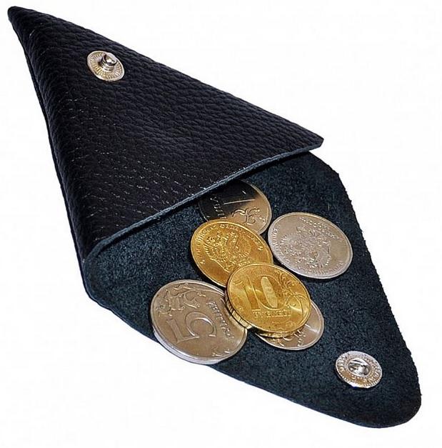 Кожаная монетница