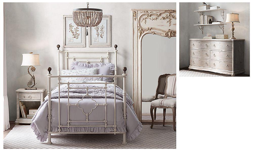 Красивая комната для девочки в винтажном стиле Restoration Hardware