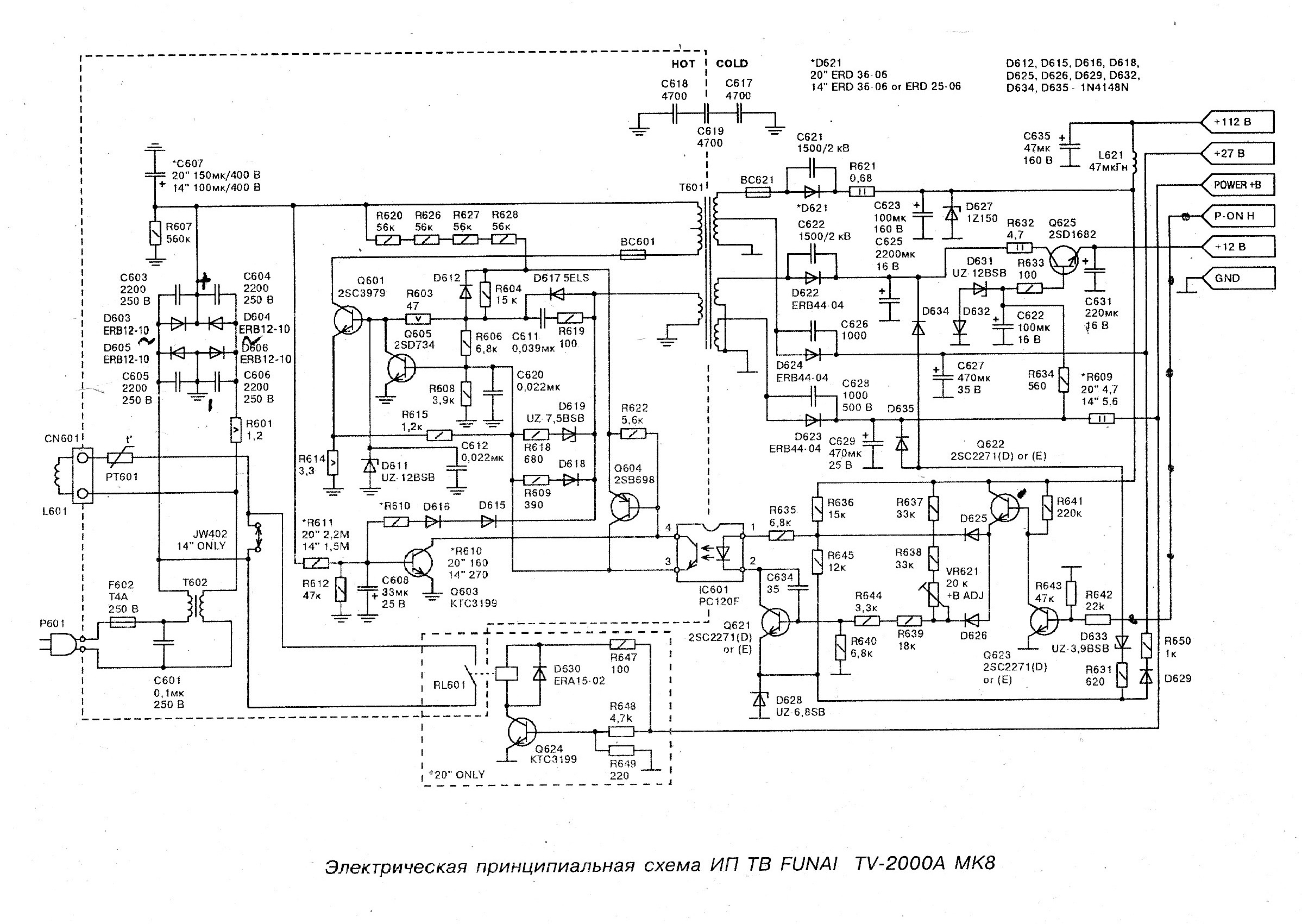 Funai tv 2000a mk10 схема фото 642