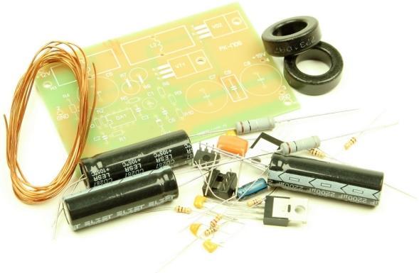 Радиоконструктор RP033. Импульсный повышающий (12 В -> 19 В) автомобильный DC-DC преобразователь напряжения (для питания ноутбуков)