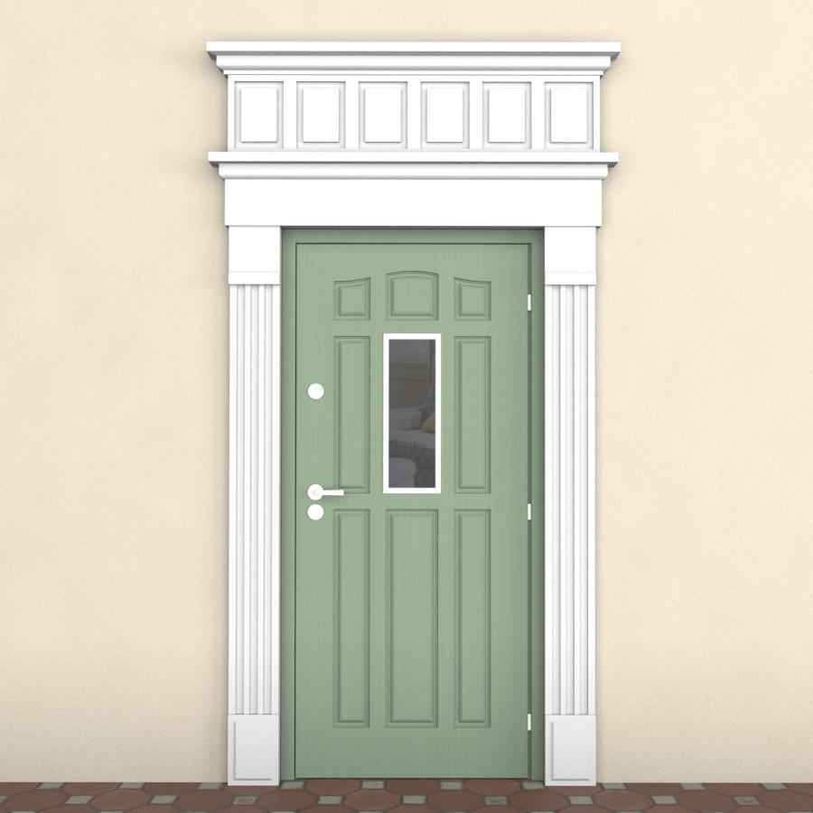 обрамление двери архитектурное