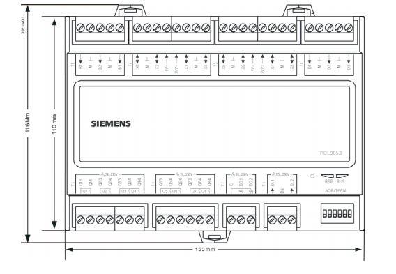 Размеры Siemens POL985.00/STD