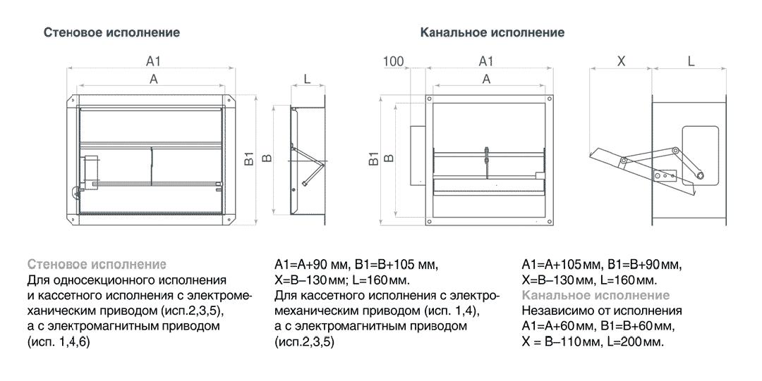 Схема клапана КДМ-2(90)-НО-600-600-165-ЭМ(12/24/220)-Н