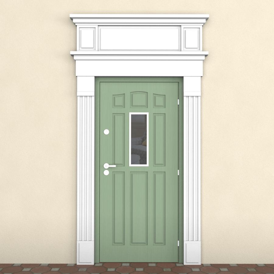 обрамление двери из пенопласта