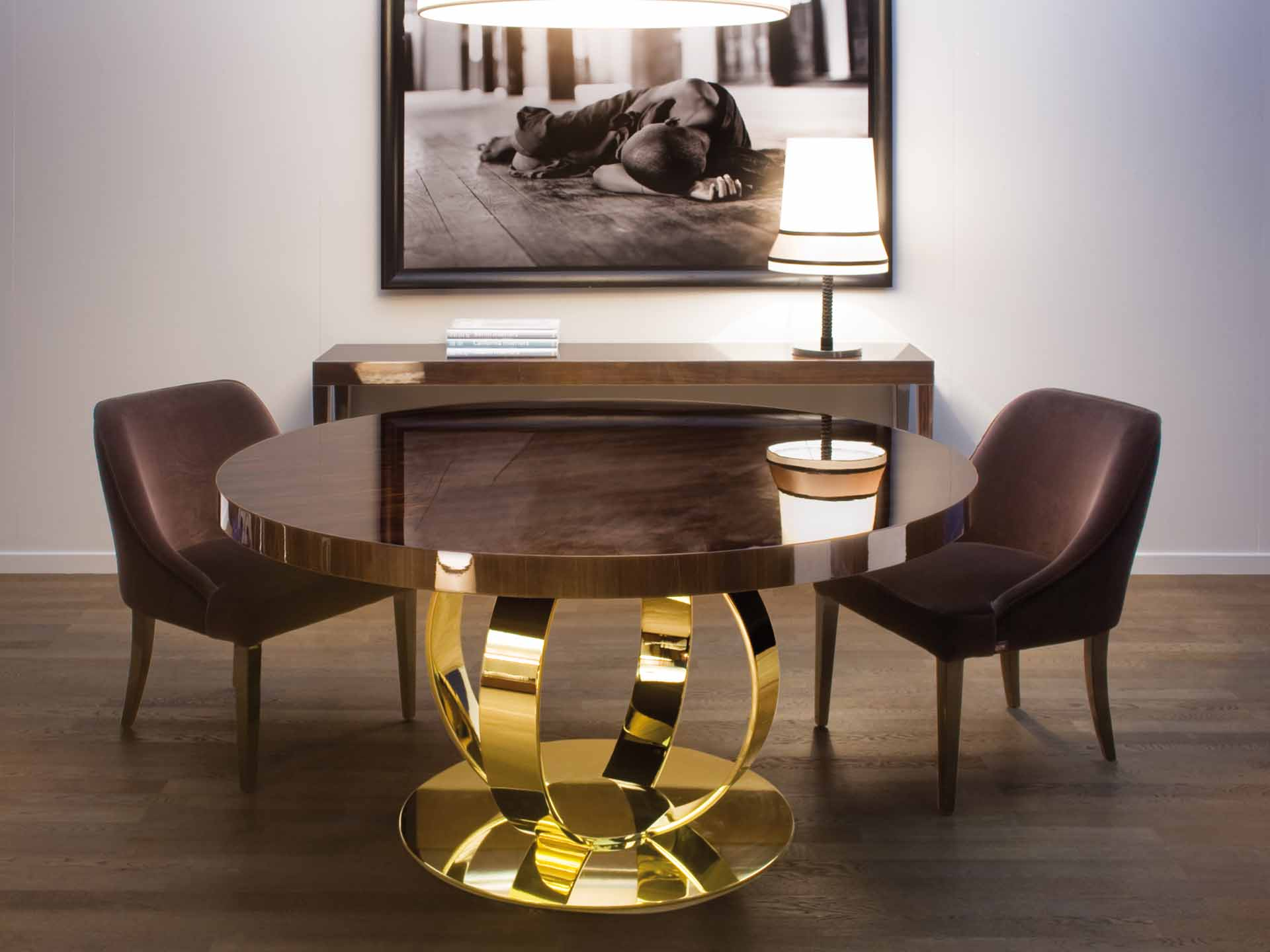 1_ANDREW_DINNER_TABLE-_ROUND-_GLOSS_MAKASSAR_EBONY_VENEERED_TOP_-_GLOSS_BRASS_PLATED_METAL_BASE.jpg