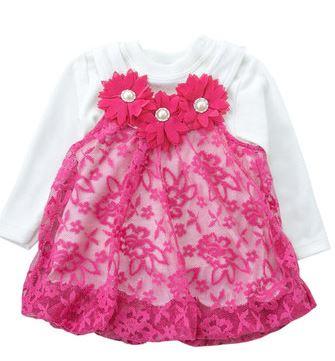 Трикотажное платье для новорожденной девочки