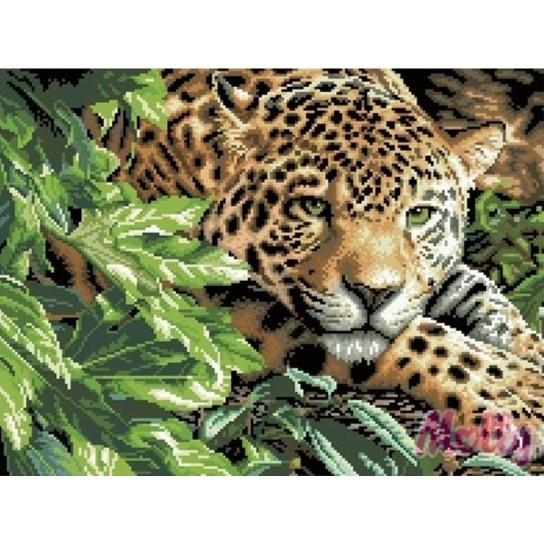 Алмазная вышивка картина Леопард