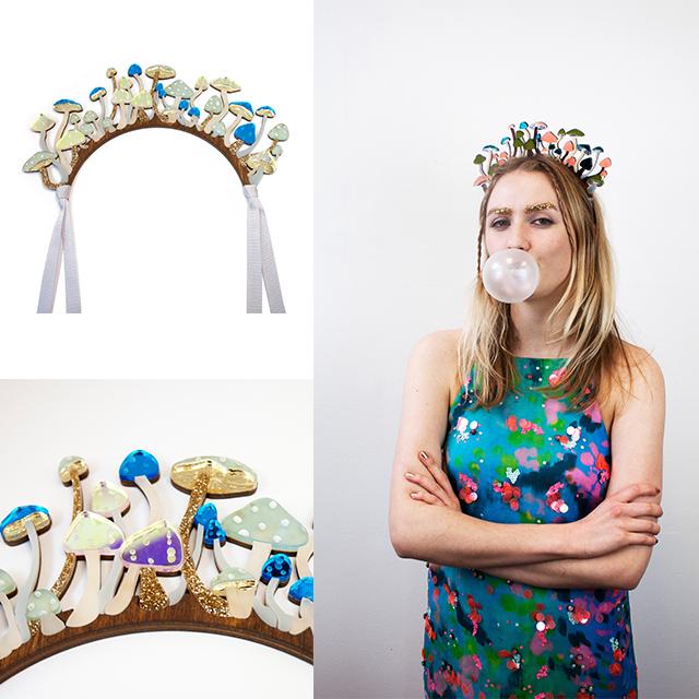 необычное украшение для волос Shrooms Headpiece от Wolf&Moon