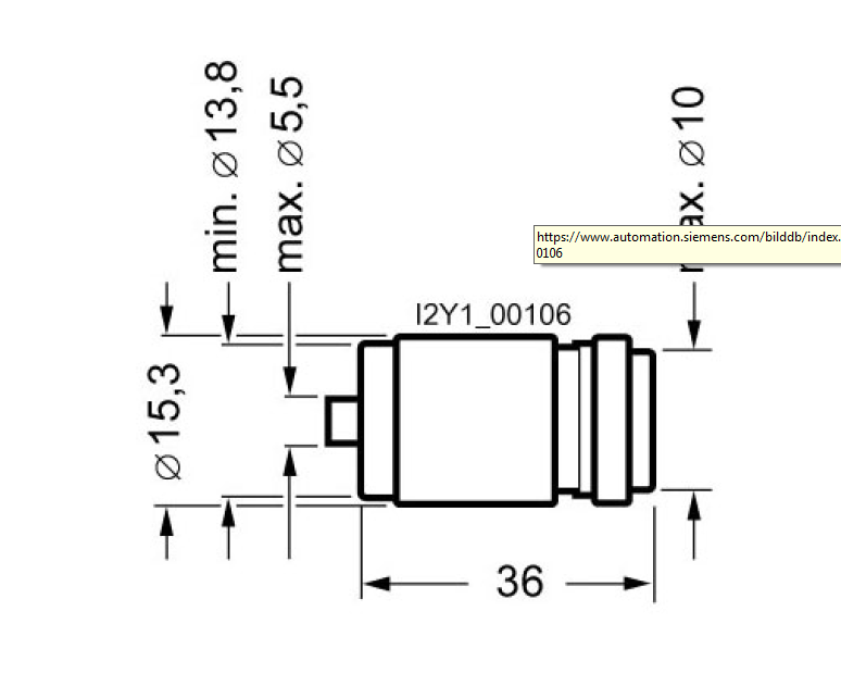 Размеры предохранителя SIEMENS 5SE23205SE2320