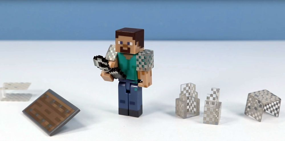 Minecraft Steve in Chain Armor
