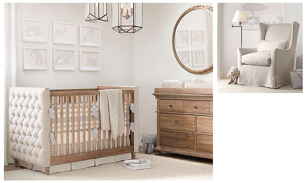 Идеальная комната для новорожденного в стиле унисекс Restoration Hardware