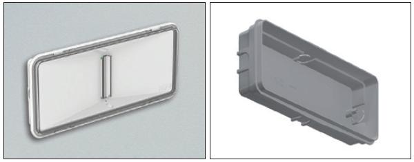 Пример встраиваемого монтажа универсального светильника аварийного освещения в стену
