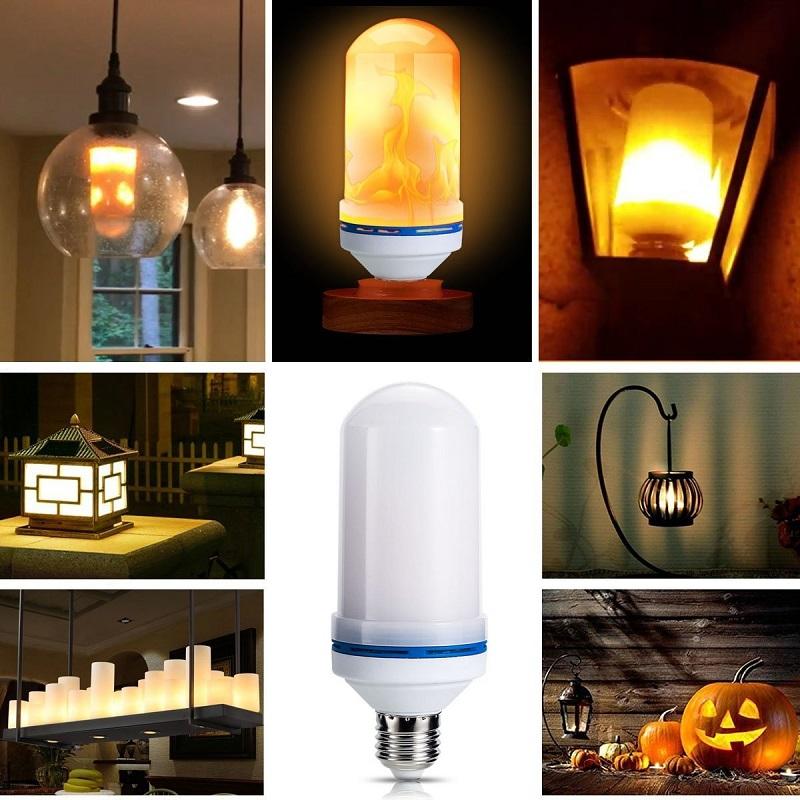 лампы имитация огня