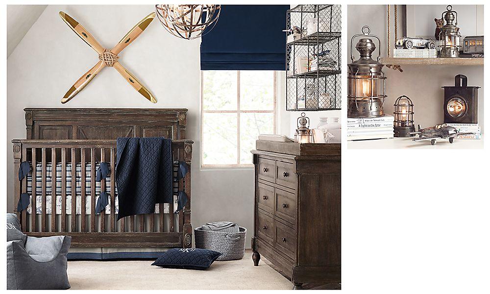 Комната для малыша в винтажном стиле Restoration Hardware
