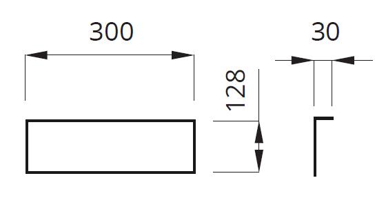 Размеры кронштейна для крепления светильников