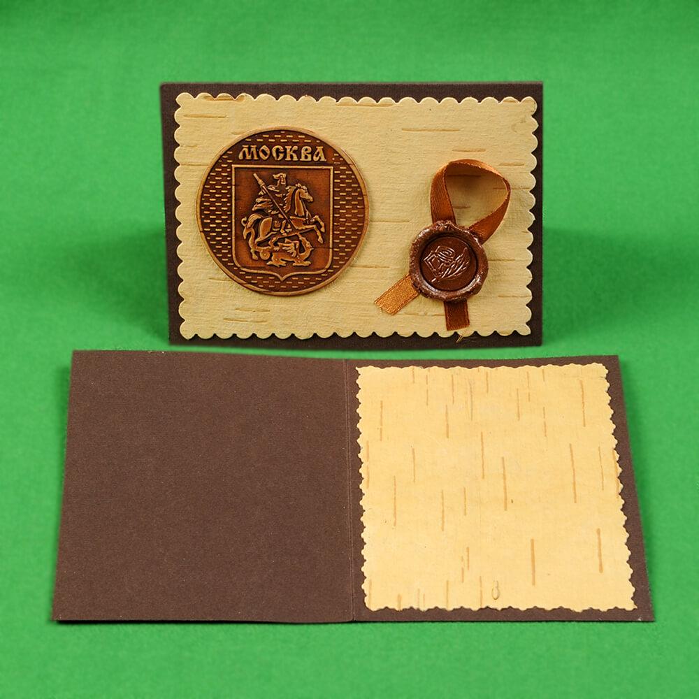 Открытки из бересты и картона