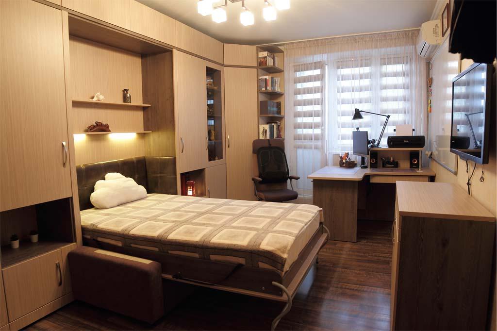 Комплект со шкафом-кроватью Виктория с диваном