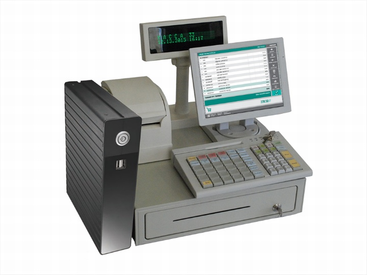 Набор кассового оборудования с защищенной клавишной клавиатурой
