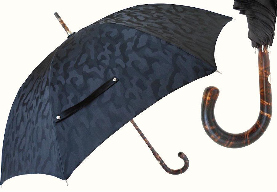 Pasotti дорогой премиум зонт-трость с ручкой из ореха