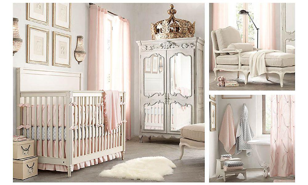 По-королевски роскошная комната для маленькой принцессы Restoration Hardware