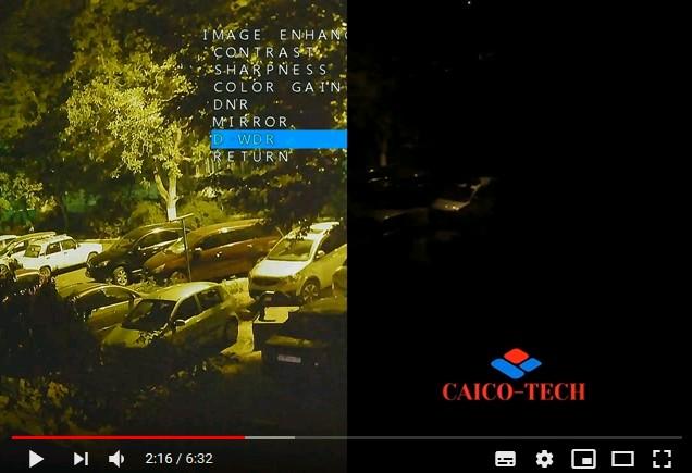Сравнение видео изображение ночью с обычной камры и камеры технологии STARLIGHT