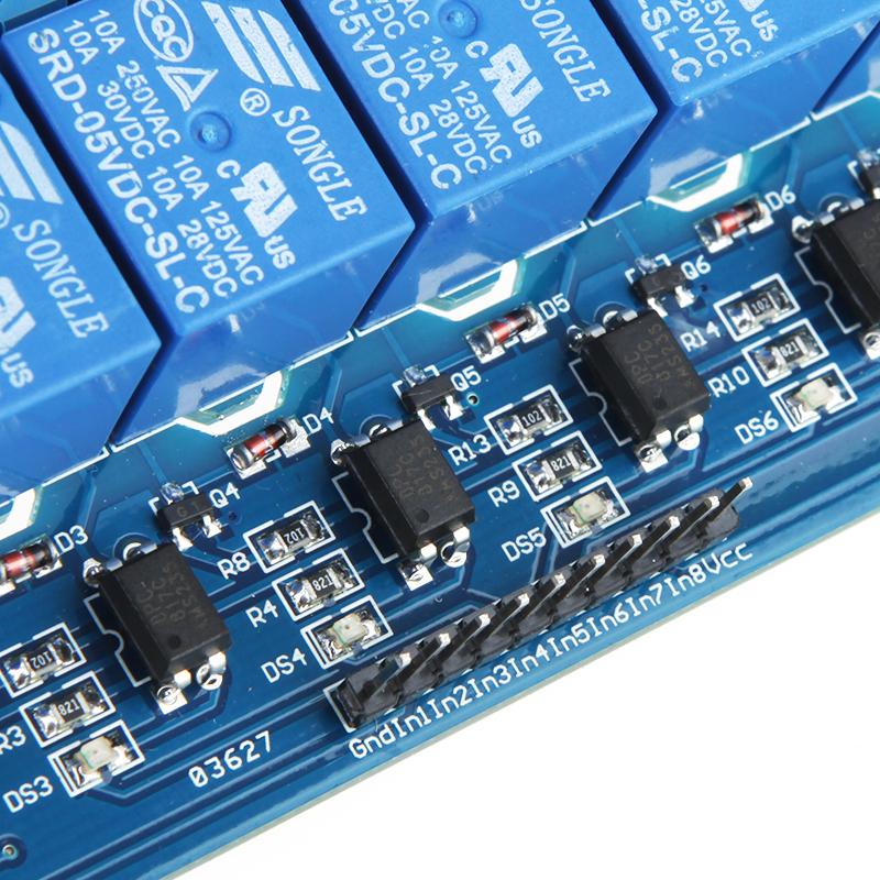 Модуль RA016. 8-ми канальное реле 250 В ; 10 А (Питание 12 В)