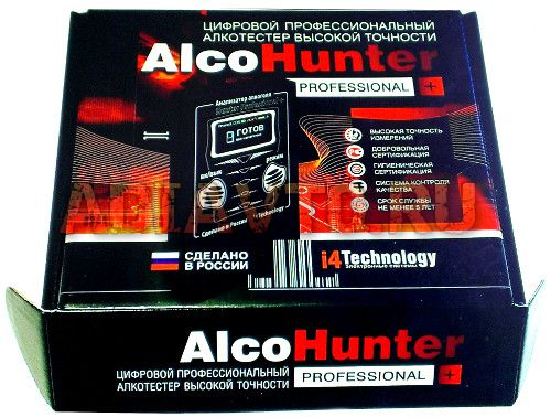 алкотестер alcohunter professional