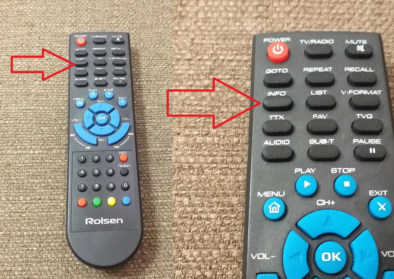 кнопка Инфо на пульте для того чтобы узнать информацию об уровне и качестве цифрового тв сигнала